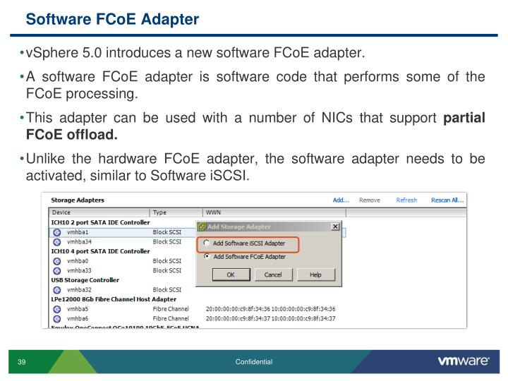 Software FCoE Adapter