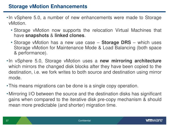 Storage vMotion Enhancements