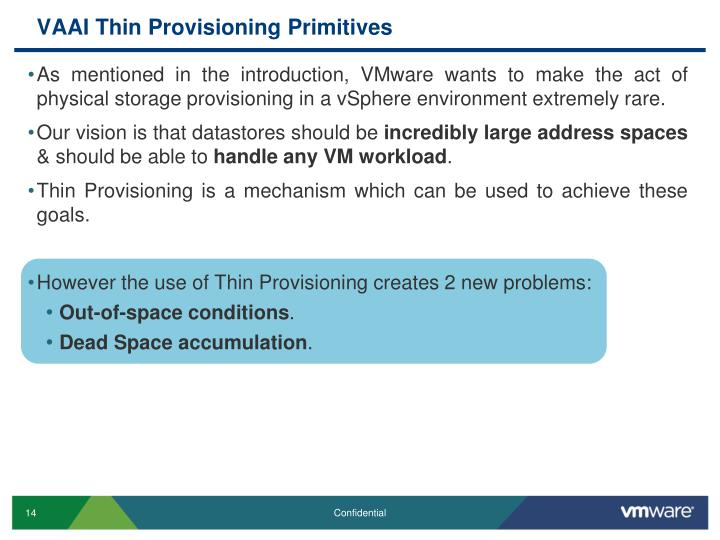 VAAI Thin Provisioning Primitives