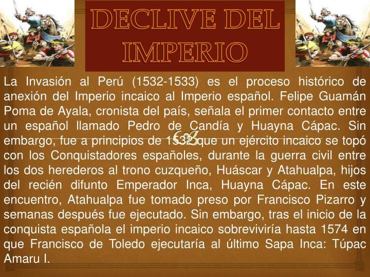 DECLIVE DEL IMPERIO