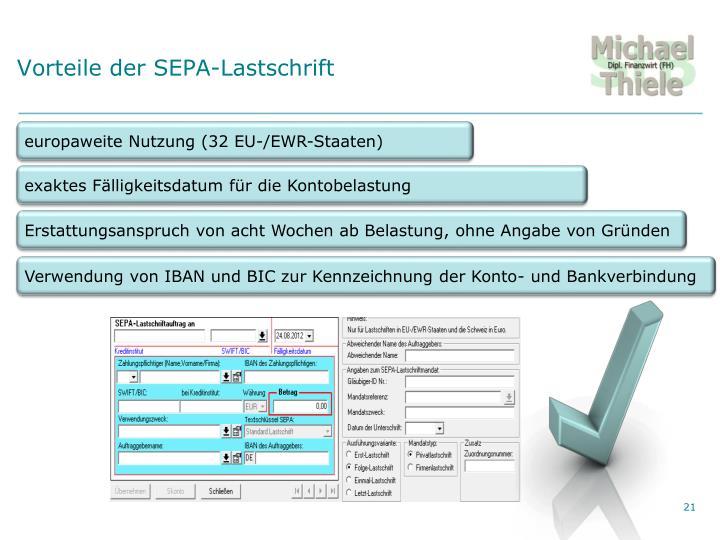 Vorteile der SEPA-Lastschrift