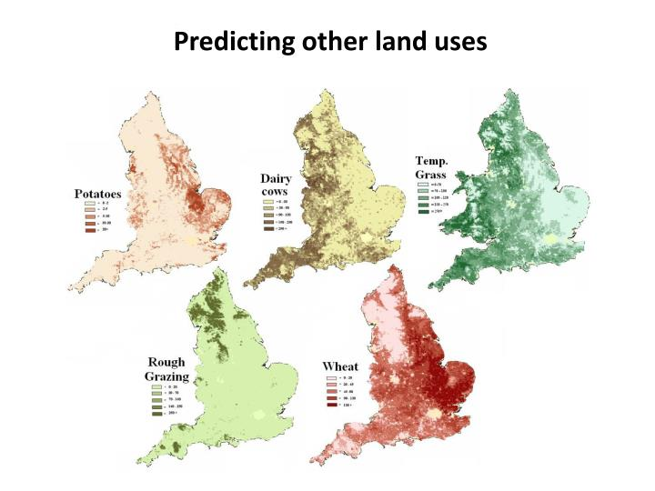 Predicting other land uses