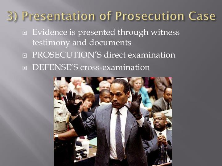 3) Presentation of Prosecution Case