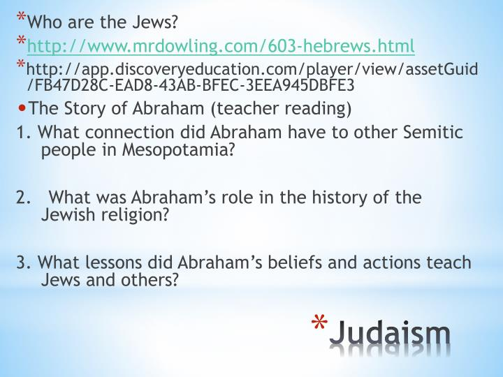 Who are the Jews?