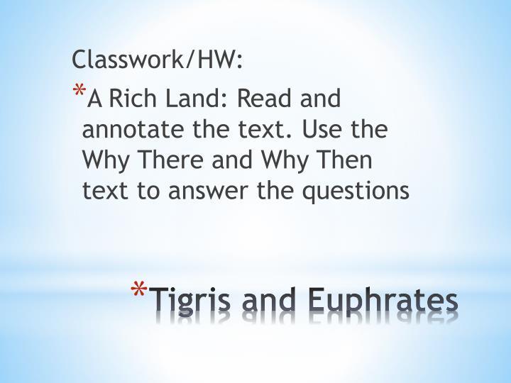Classwork/HW: