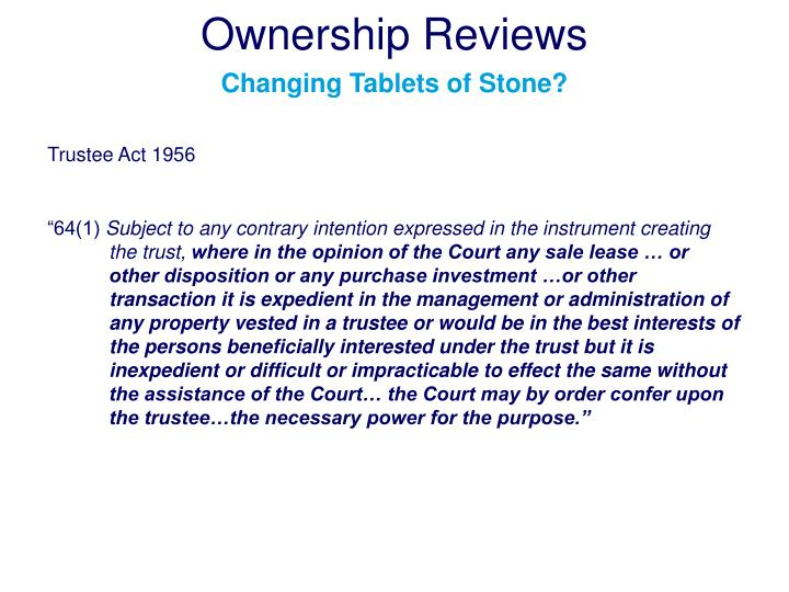 Ownership Reviews