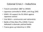 colonial crisis i indochina