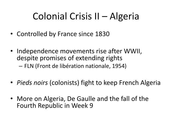 Colonial Crisis II – Algeria