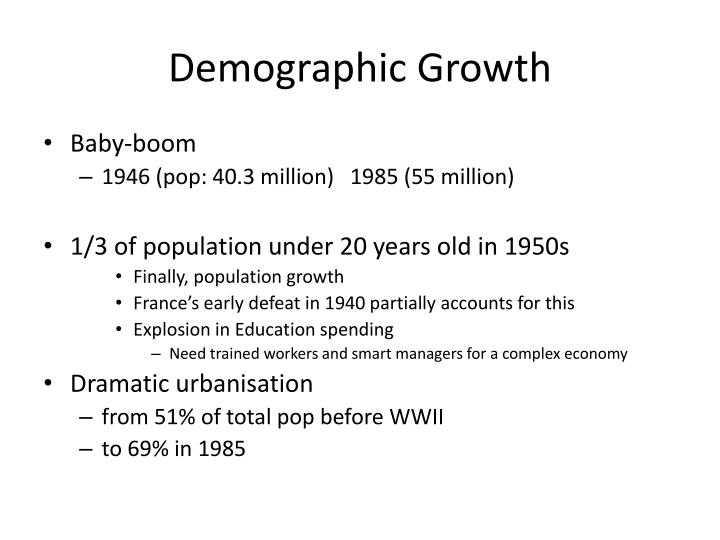 Demographic Growth