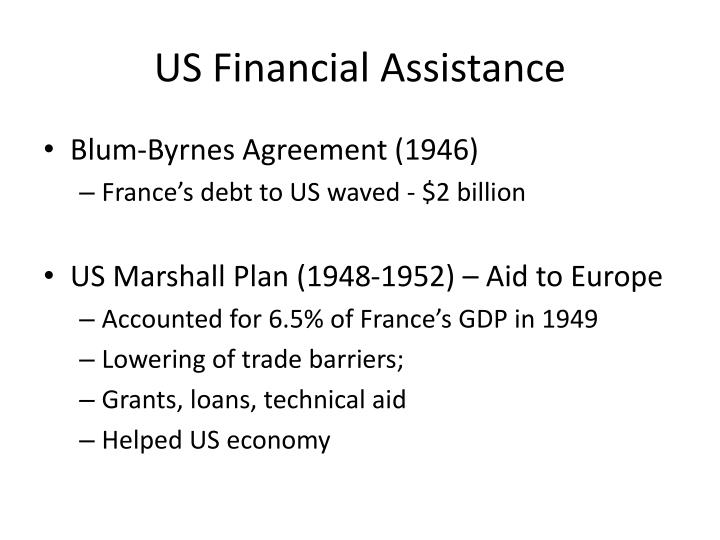 US Financial Assistance