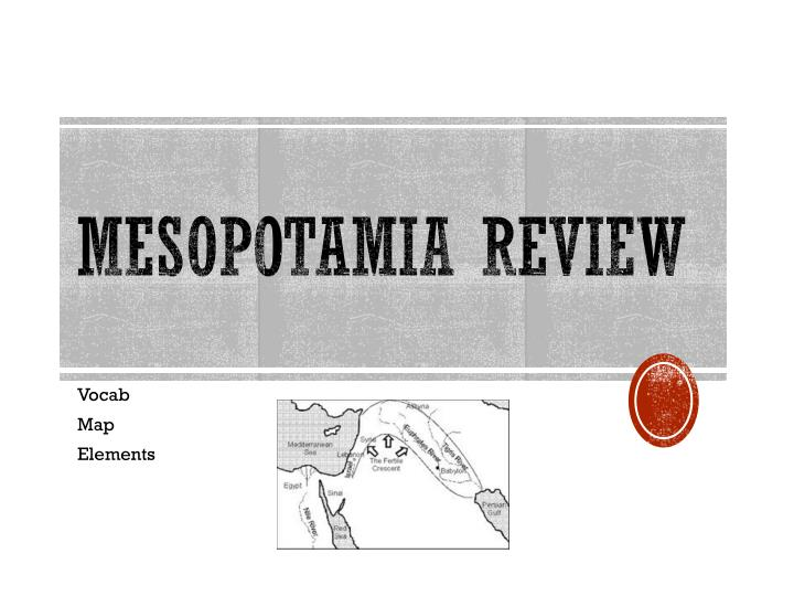 Mesopotamia review