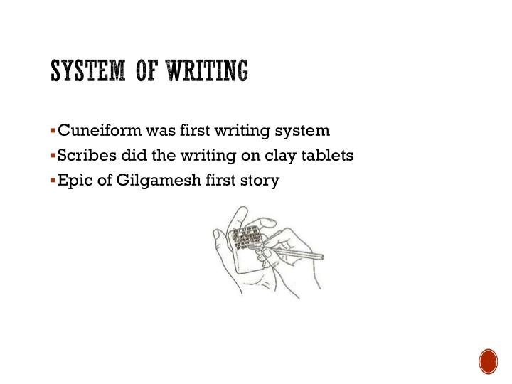System of writing