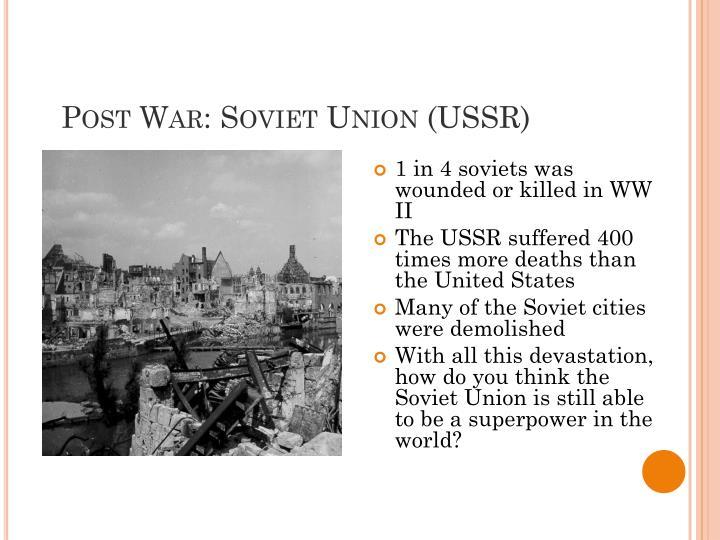 Post War: Soviet Union (USSR)