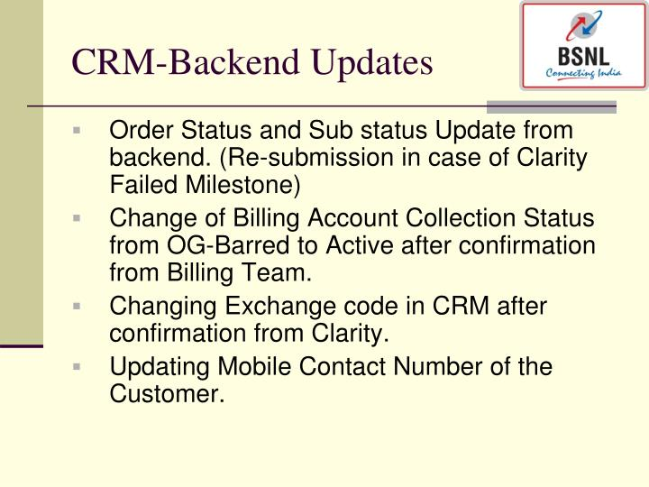 CRM-Backend Updates