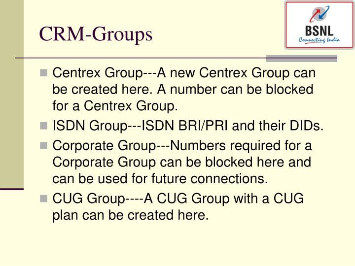 CRM-Groups