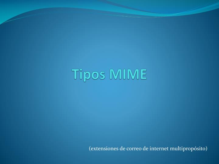 Tipos mime