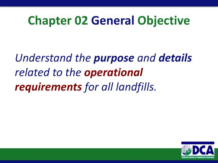Chapter 02 general objective