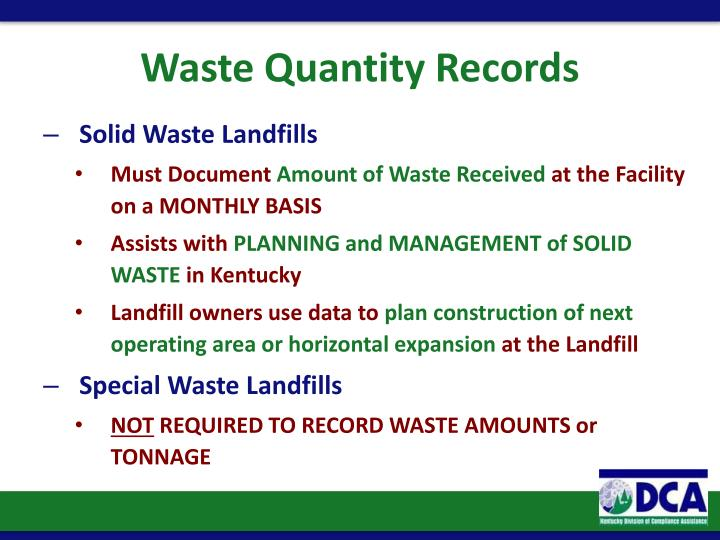 Waste Quantity Records