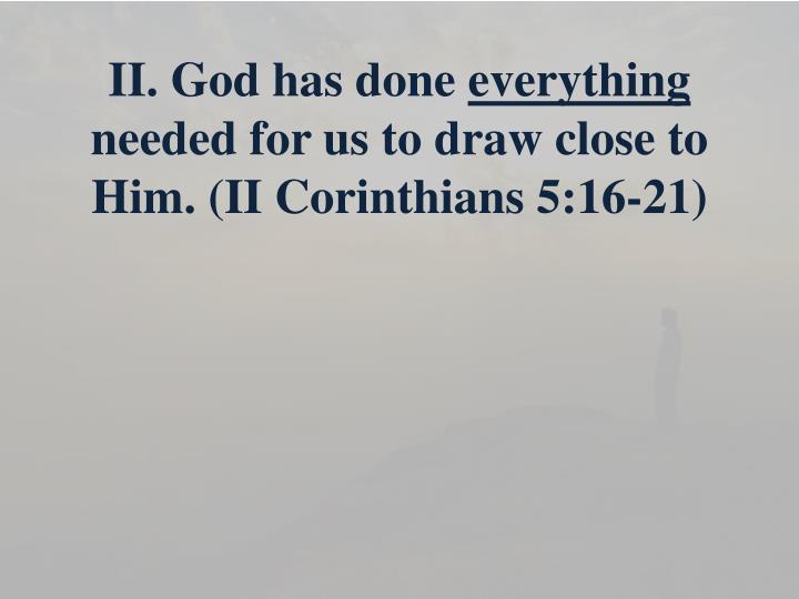 II. God