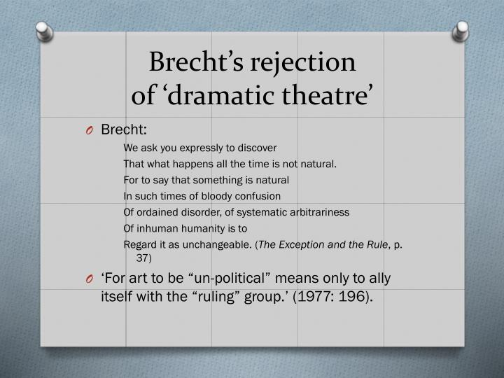 Brecht's rejection
