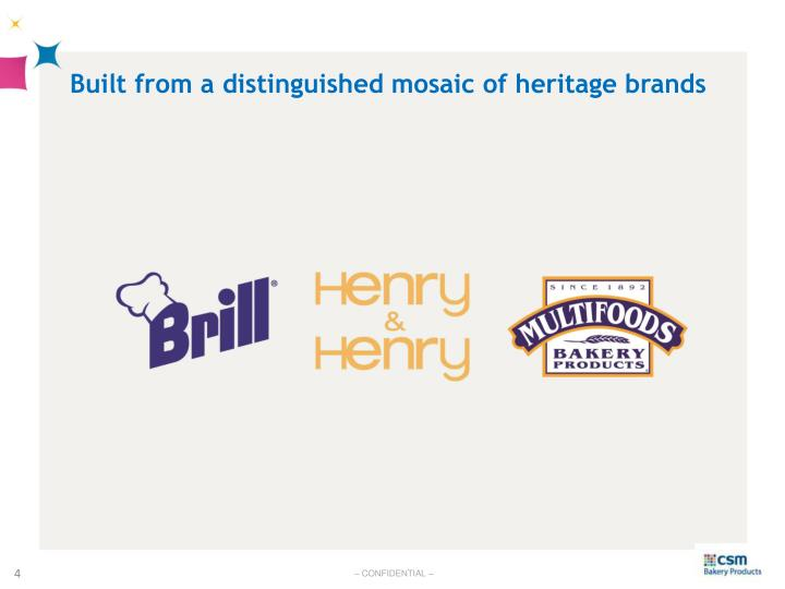 Built from a distinguished mosaic of heritage brands