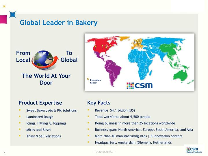 Global Leader in Bakery
