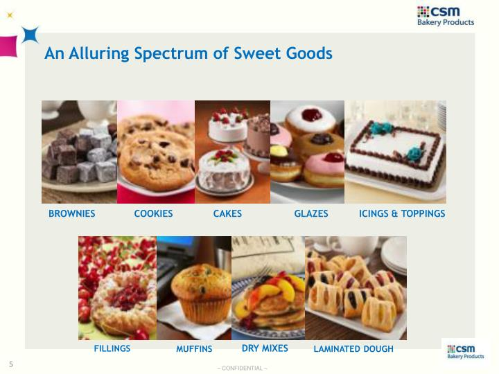 An Alluring Spectrum of Sweet Goods