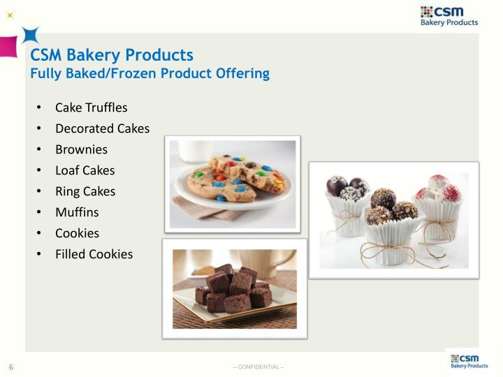 CSM Bakery Products