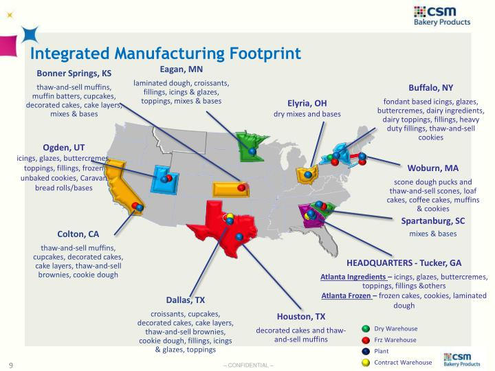Integrated Manufacturing Footprint