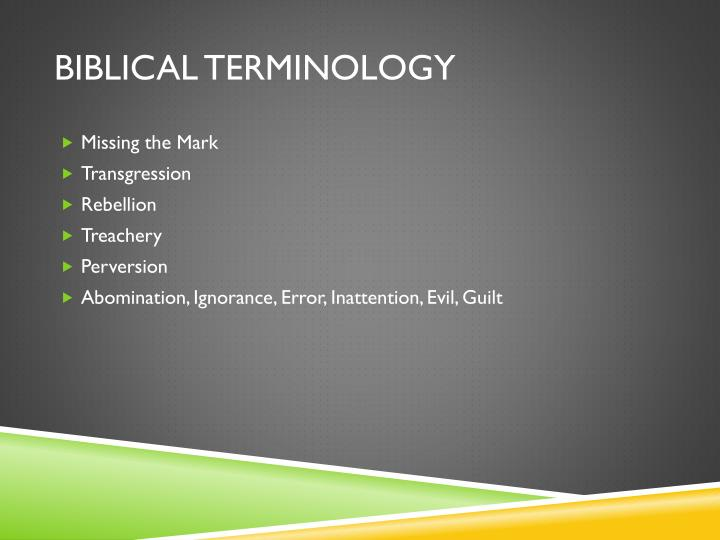 biblical Terminology