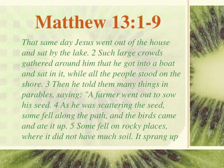 Matthew 13:1-9