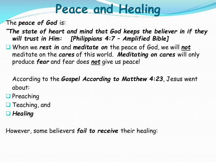 Peace and healing1