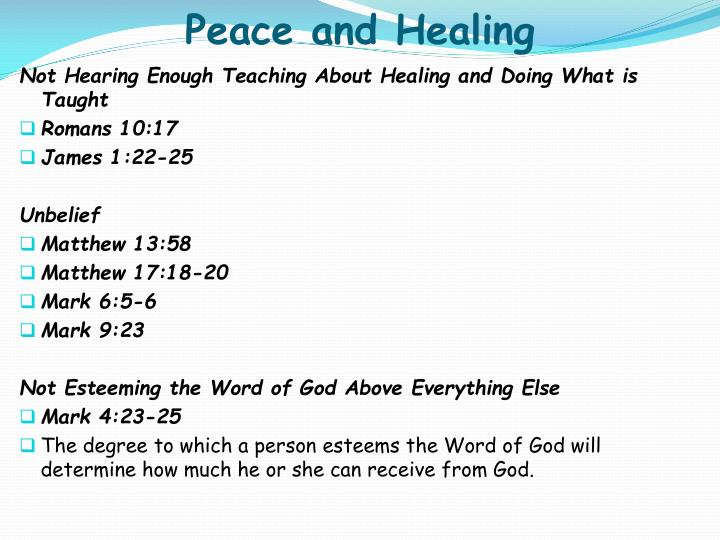 Peace and Healing
