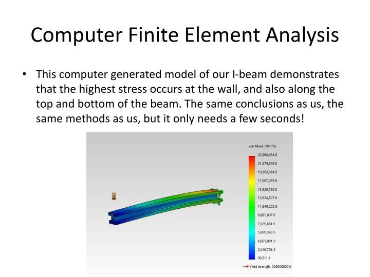 Computer Finite Element Analysis