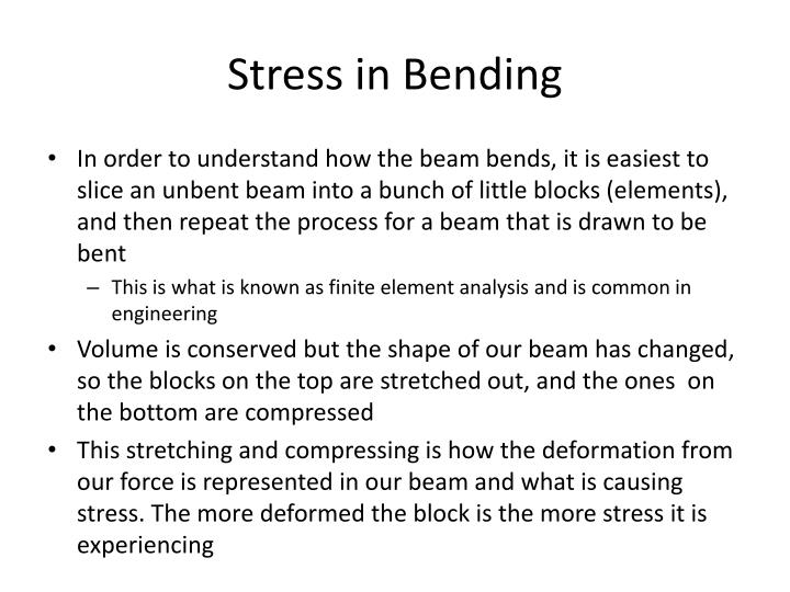 Stress in Bending