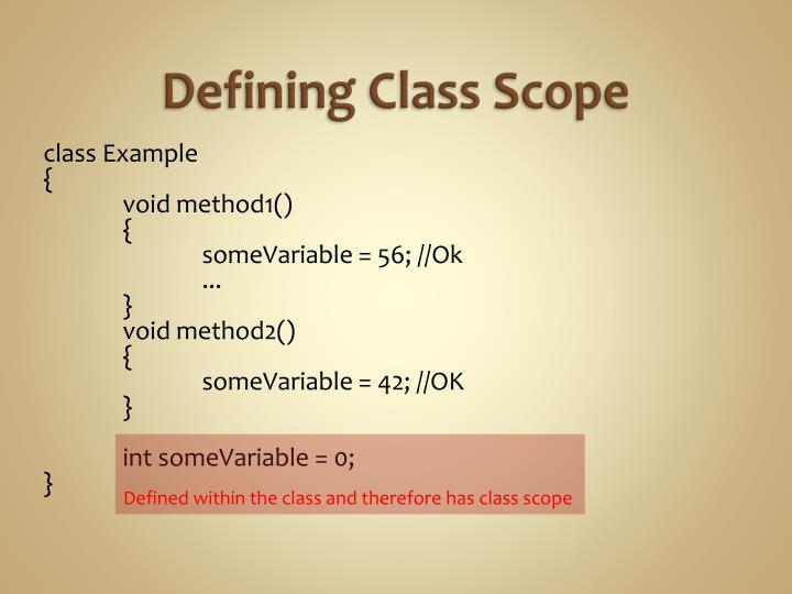 Defining Class Scope