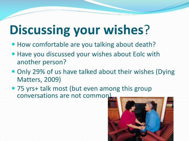 Discussing your wishes