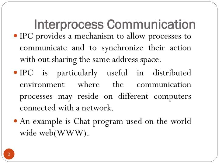 Interprocess communication1