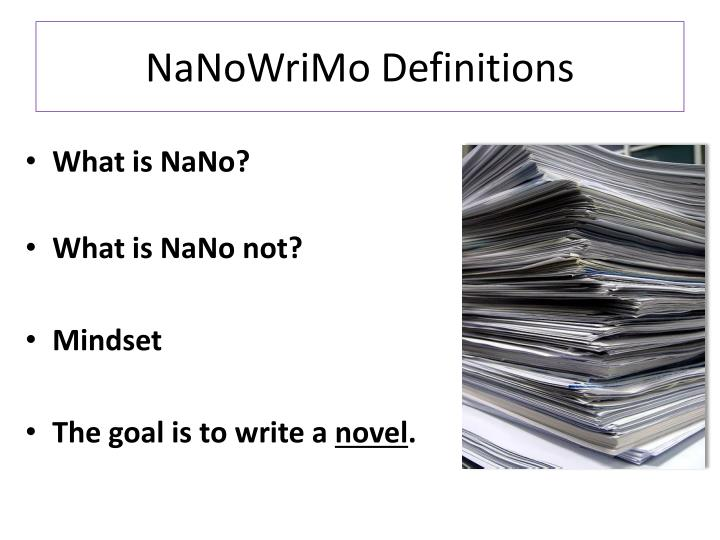 Nanowrimo definitions