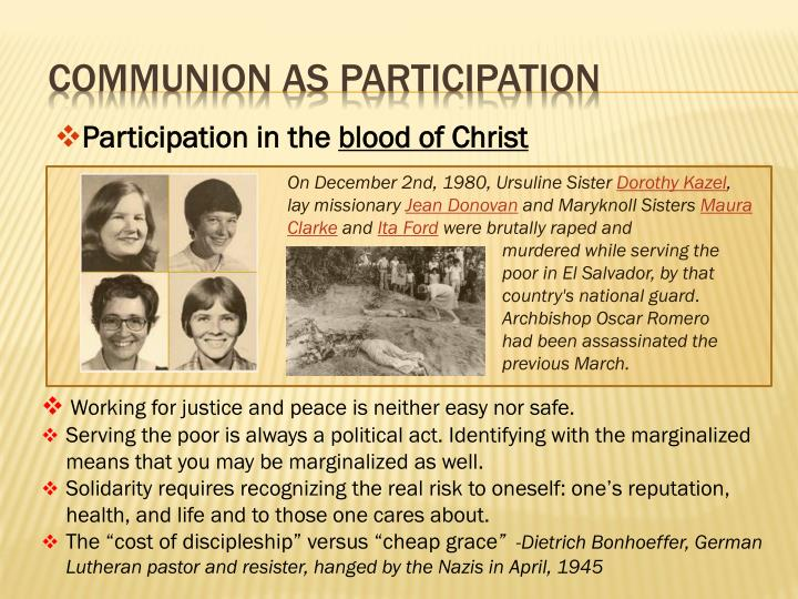 Communion as Participation