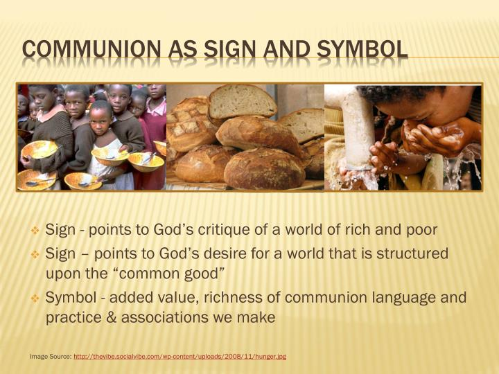 Communion as sign and symbol