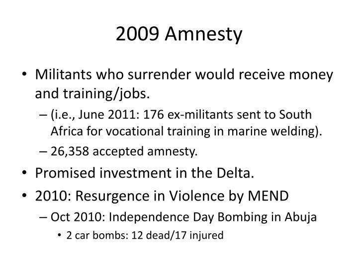 2009 Amnesty