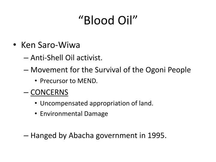 """Blood Oil"""