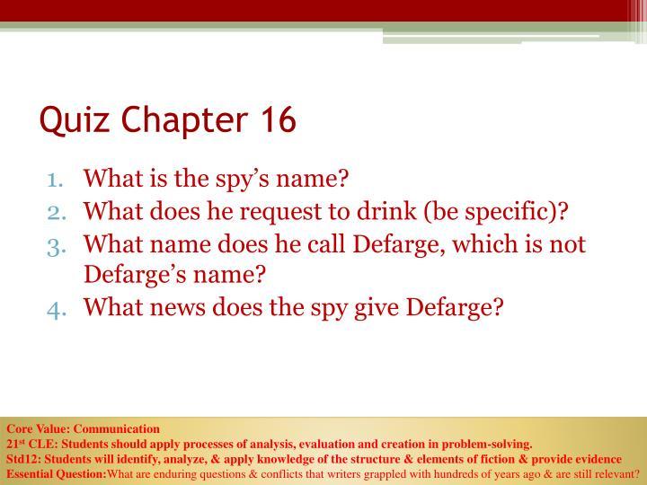 Quiz Chapter 16