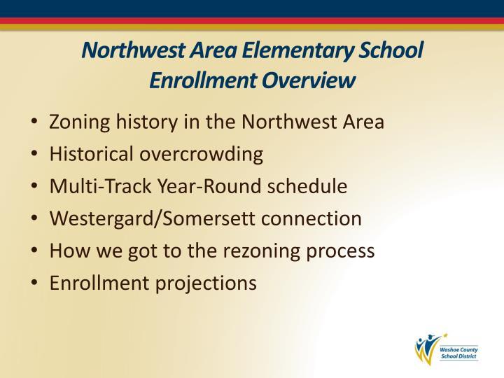 Northwest Area Elementary School Enrollment Overview