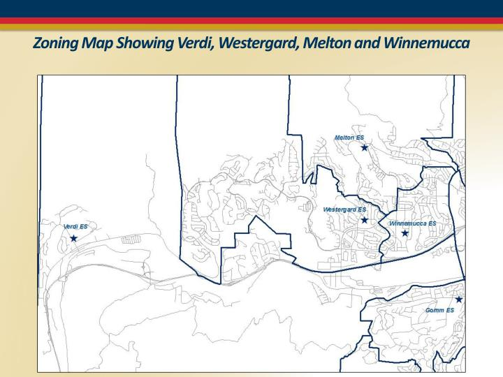 Zoning Map Showing Verdi,