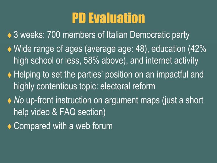 PD Evaluation