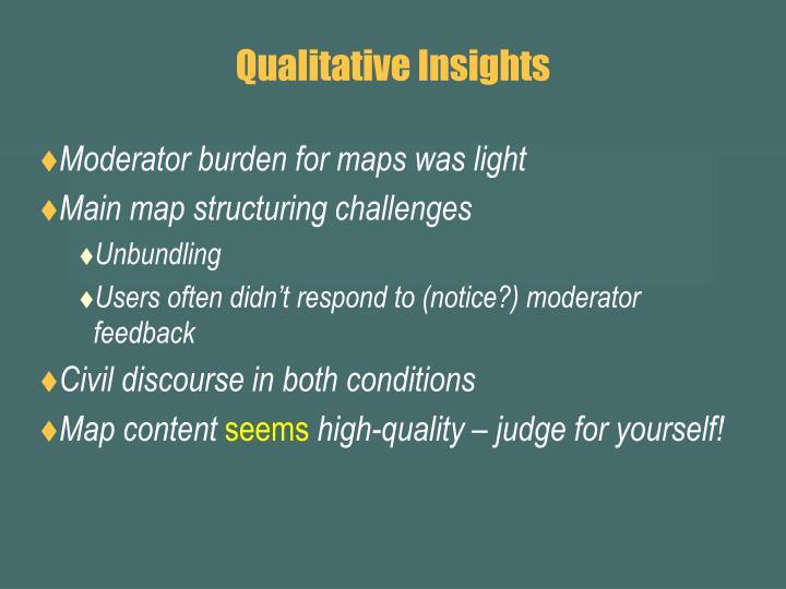 Qualitative Insights