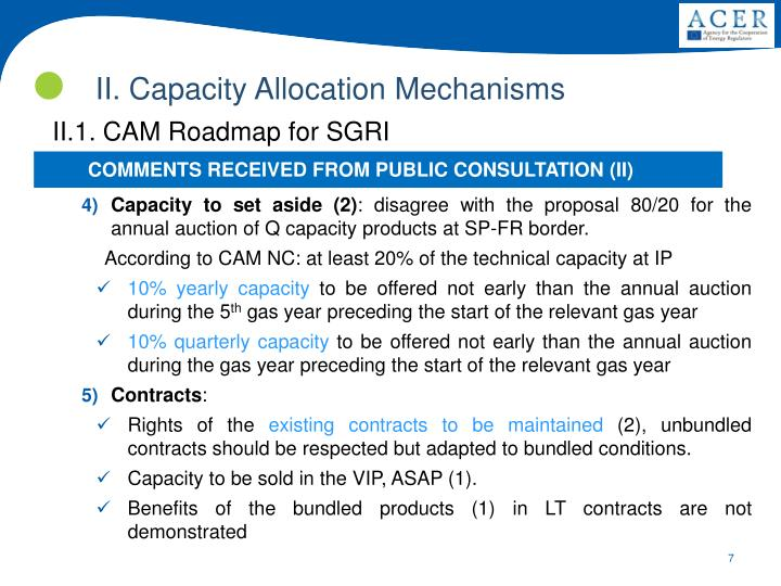 II. Capacity Allocation Mechanisms