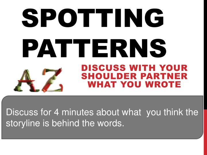 Spotting patterns